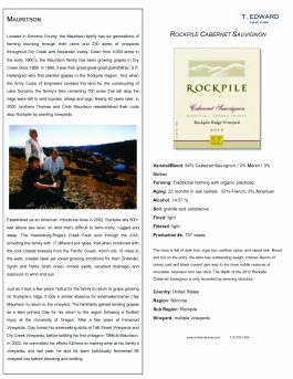 Rockpile Ridge Cabernet Sauvignon 2012