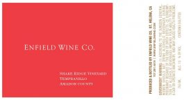 Enfield Wine Tempranillo Shake Ridge Vineyard Amador County 2012
